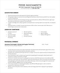 Laboratory Technician Resume Free Resume Templates 2018