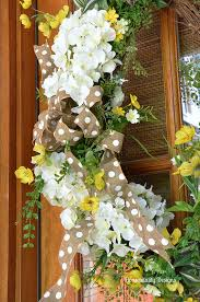 spring front door wreathsWhite Hydrangea Spring Front Door Wreaths