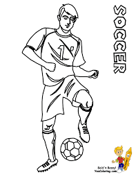 Lovely Design Soccer Coloring Pages Soccer Players Printable Messi