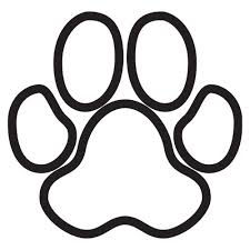 bulldog paw print outline. Contemporary Outline Paw Print Dog Stencils Tattoo With Bulldog Outline U
