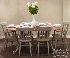 painting dining room chairs. Awesome Chalk Paint Dining Set Oval Table Six Room Chairs Painting F