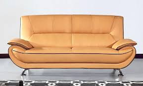 yellow leather sofa set top grain
