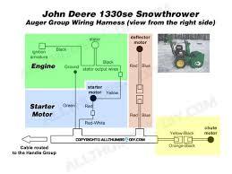 john deere 1330se snowblower wiring harness for the auger group john deere 1330se snowblower wiring harness for the auger group