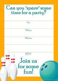 Bowling Party Invitation Wonderful Bowling Party Invitation Bowling Party Invitation Template