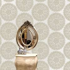 Statement Beige & Taupe Kenitra Mica Effect Wallpaper | Departments | DIY  at B&Q