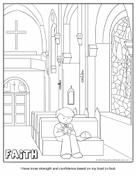 Cub Scouts Wolf Printable Faith Coloring