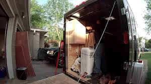 Cabinets For Cargo Trailers Cabinet Install 6x10 Enclosed Trailer Conversion Project