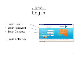 Costpoint Credit Card Training Log In Ppt Download