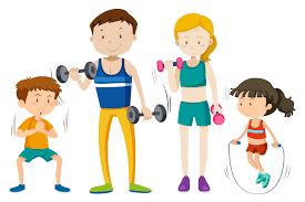 Family workout together on white vackground - Download Free Vectors,  Clipart Graphics & Vector Art