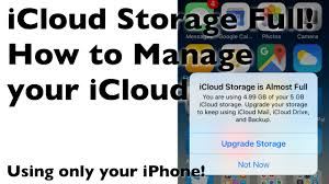 iCloud Storage is Almost Full How to Manage your iCloud with your iPhone   YouTube