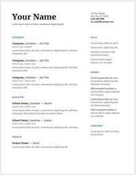 Free Resume Templates Google Best Curriculum Vitae Template Word Free Httpwwwresumecareer