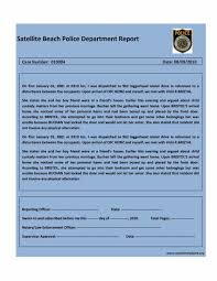 free police report template 01