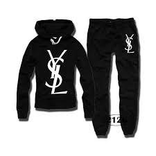Ysl Women Logo Print Tracksuits Sport Suits Sweat Suit