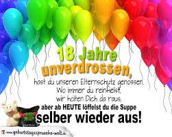 18 Jahre Lustige Reime Zum Geburtstag Geburtstagssprüche Welt