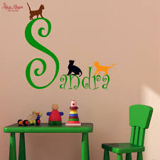 Small Picture Aliexpresscom Buy Custom Girls Name Wall Decal And Three Cute