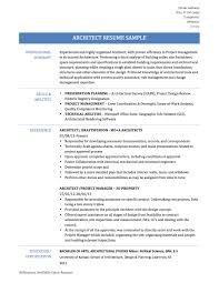 architect resume samples templates and tips architect resume