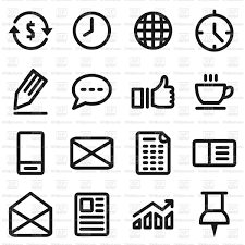 Set Of Office Icons Vector Illustration Of Icons And Emblems