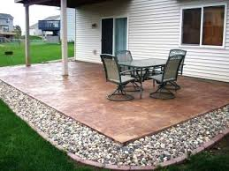 stamped concrete patio cost calculator. Cement Slab Cost Chic Patio Ideas Images About Concrete Patios On Stamped . Brilliant Calculator