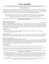Forklift Operator Resume Template Example For Free Production