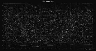 Constellation Sky Chart Sky Chart Map Of Stars And Constellations