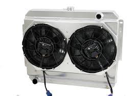 1966 69 mopar 26 core custom aluminum radiator 1966 1969 26 b b mopar applications aluminum radiator brushless fans