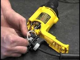 how to replace the switch on a corded dewalt drill youtube  at Dewalt Dw236 Wiring Diagram