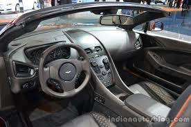 aston martin vanquish red interior. interior of the aston martin vanquish volante q red