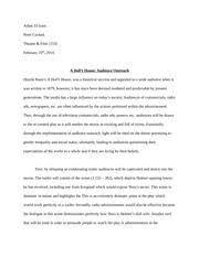 a doll s house essay adam el i peter cockett theatre film 2 pages a doll s house essay