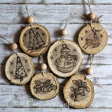 DIY Christmas Ornaments 35 Homemade Felt Wood Paper With Regard To Wooden  Decorations Prepare 8