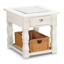 plantation cove end table  white  value city furniture