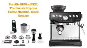 Ideal for commercial as well as home applications. Breville Bes870bsxl The Barista Express Coffee Machine Black Sesame Coffee Machine Breville Black Sesame