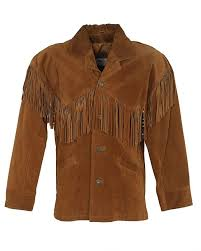 80s schott brown suede fringe western jacket l brown 195 rokit vintage clothing