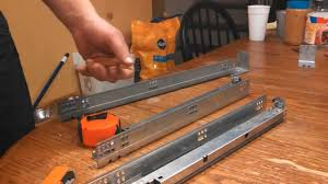 Cabinet Drawer Rails How To Install Soft Close Drawer Slides Youtube