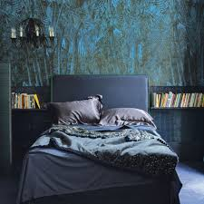 blue bedroom wallpaper decorating with darker colours