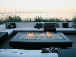 elegant gas fire pit with glass fire pit ideas 25 hot designs for your yard