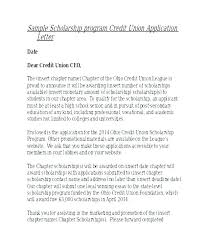 Sample Scholarship Request Letters Cover Letter Sample Scholarship Application Examples For