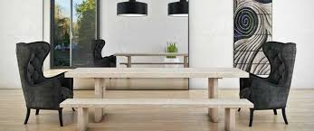 bookend the dining table a refreshing new spot for wing chairs is as armchairs at the head and foot of the dining table create an interesting bination