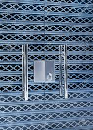 Security Glass Doors Locked, Aluminum Shutter Grill Protection ...