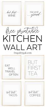dining room printable art. Kitchen Gallery Wall Printables | Free Printable Art Apartment Decor Ideas Dining Room P