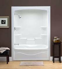 tub shower combo liberty inch x inch x inch 6 shelf acrylic one piece tub shower