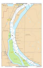 Army Corps Of Engineers River Charts Chart 120 Mississippi River Miles 232 224 Us Army Corps