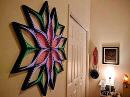 3 d wall art origin string art sacred geometry psychedelic wall throughout wall art image set
