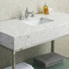 Carrera Countertops ace 48 inch single sink bathroom vanity set with quartz countertop 8028 by guidejewelry.us