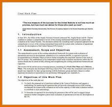 8-9 Work Plan Example | Kfcresume