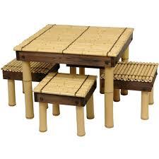 oriental outdoor furniture. Oriental Furniture Zen Bamboo Coffee Table W/ Four Stools, Width - 23.5  Inches Oriental Outdoor Furniture E