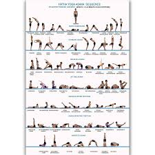 Mq2710 Yoga Exercise Bodybuilding Sequence Chart Human Health Hot Art Poster Top Silk Canvas Home Decor Picture Wall Printings