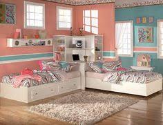 twin beds for teenagers. Plain Teenagers Awesome Kid Twin Bedroom Design Ideas Sweet Cool Tween Girls  Impressive Salmon Aqua Teen Rooms Beds Integrated Bookshelf Laptop  Inside For Teenagers I
