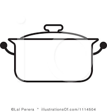 pan clipart black and white. clip art black and white | royalty-free (rf) pot clipart illustration by pan