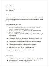 Network Engineer Resumes Resume Sample