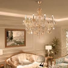 10 bulbs elegant crystal chandelier lamp pendant lighting fixture ceiling light